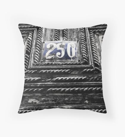 House number in Fez, Morocco Throw Pillow