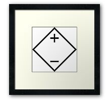 Dependent Voltage Source Framed Print