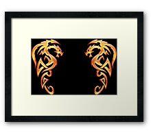 Golden Dragons Framed Print