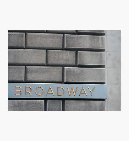 Broadway Bricks Photographic Print