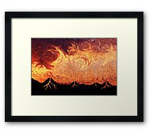 How Volcanoes are Made with Sky Lava Framed Print