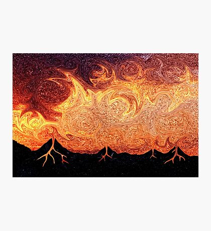 How Volcanoes are Made with Sky Lava Photographic Print