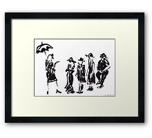 Wear this Ink Wash on Wednesdays Framed Print