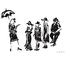 Wear this Ink Wash on Wednesdays Photographic Print