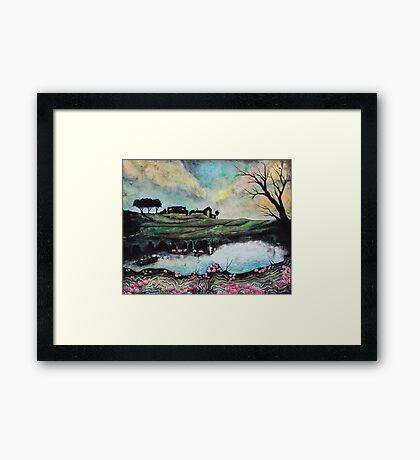 Landscape Reflected in Water Framed Print