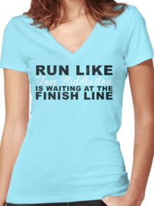 Run Like Tom Hiddleston is Waiting at the Finish Line Women's Fitted V-Neck T-Shirt