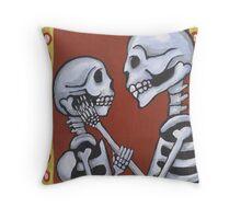 Dia de los Muertos Skeletons in Love Throw Pillow