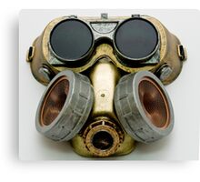 Steampunk Gas Mask and Goggles Canvas Print