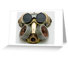 Steampunk Gas Mask and Goggles Greeting Card