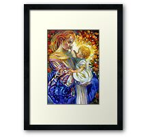 the madam of oriental persimmon with cherub Framed Print