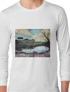 Landscape Reflected in Water Long Sleeve T-Shirt