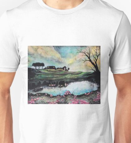 Landscape Reflected in Water Unisex T-Shirt