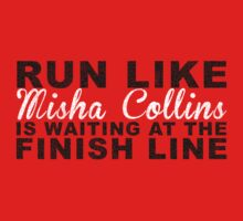 Run Like Misha Collins is Waiting at the Finish Line One Piece - Long Sleeve