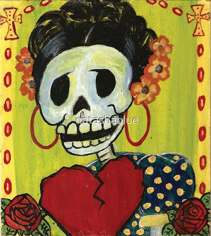Quot Dia De Los Muertos Skeleton Muerta Quot By Natashablue