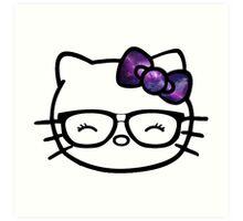 Hello Kitty w/ Galaxy Bow Art Print