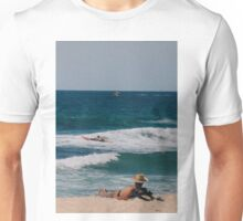 A typical Australian beach scene - summer. Unisex T-Shirt