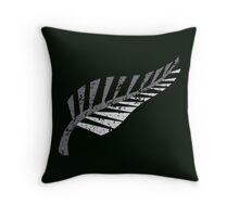 Silver fern distressed  Throw Pillow