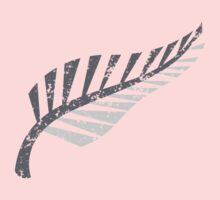 Silver fern distressed  Kids Clothes