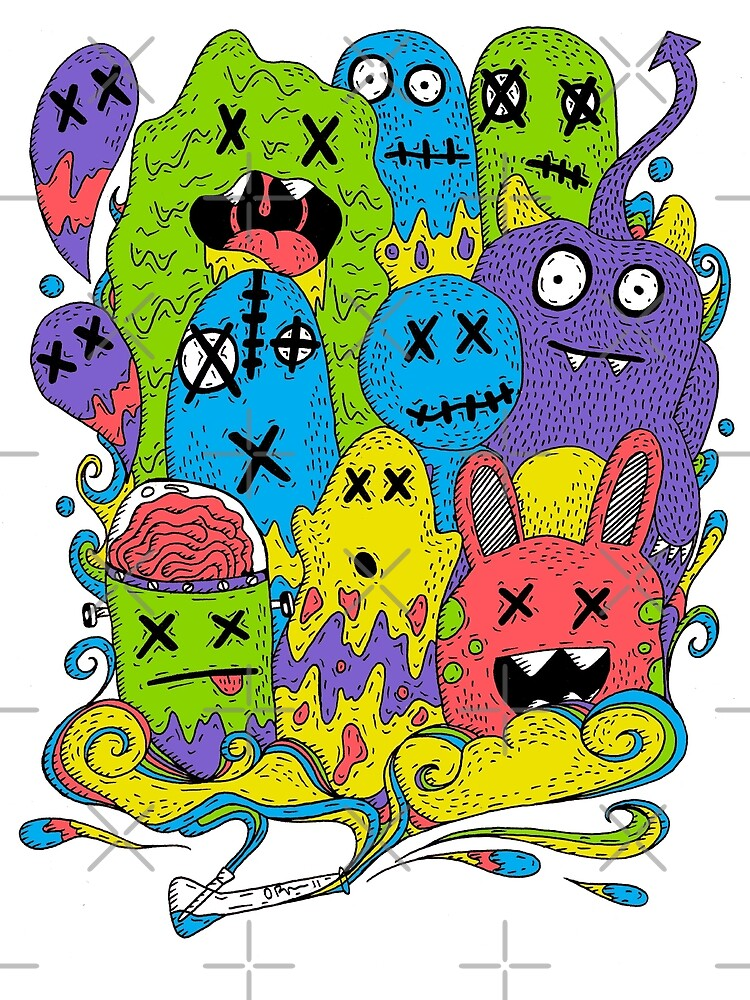 Test Tube Monsters Color by ogfx