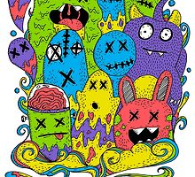 Test Tube Monsters Color by Octavio Velazquez