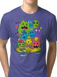 Test Tube Monsters Color Tri-blend T-Shirt