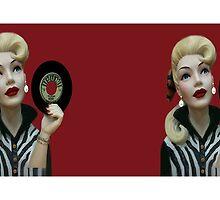 RETRO GIRL RECORD MUG by ✿✿ Bonita ✿✿ ђєℓℓσ