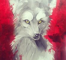 Fantasy wolf by Dangeroussoup