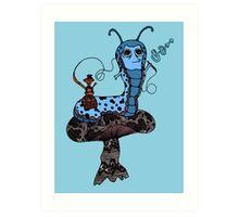 Hookah Smoking Catterpillar V3.0 Art Print