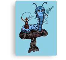 Hookah Smoking Catterpillar V3.0 Canvas Print