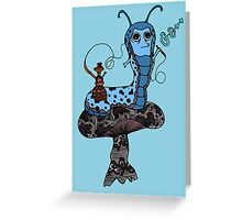 Hookah Smoking Catterpillar V3.0 Greeting Card