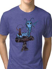 Hookah Smoking Catterpillar V3.0 Tri-blend T-Shirt