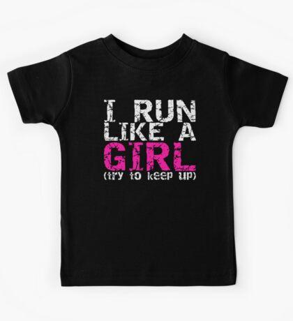 Run Like a Girl Kids Tee