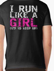 Run Like a Girl Mens V-Neck T-Shirt