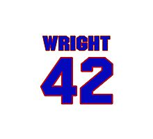National baseball player Ken Wright jersey 42 Photographic Print