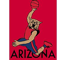 RED - Arizona Basketball Photographic Print