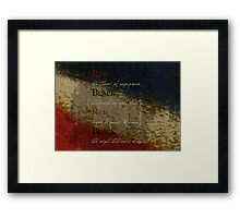 Les Mis-Red & Black  Framed Print