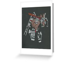 me grimlock Greeting Card