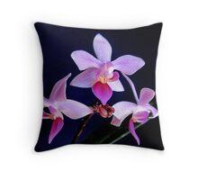 Orchid Ballet Throw Pillow