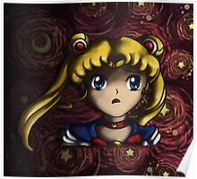 Starry Moon Poster