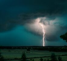 Lightning at Avoca by Louise Wolfers