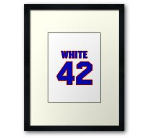 National baseball player Rick White jersey 42 Framed Print