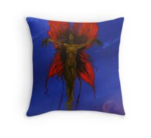 queen poppy and the noon moon Throw Pillow