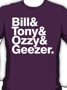 Black Sabbath member list ampersand shirt T-Shirt