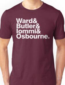 Black Sabbath member list last names ampersand shirt Unisex T-Shirt