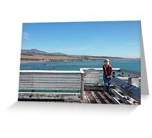 Out at the Pier Greeting Card