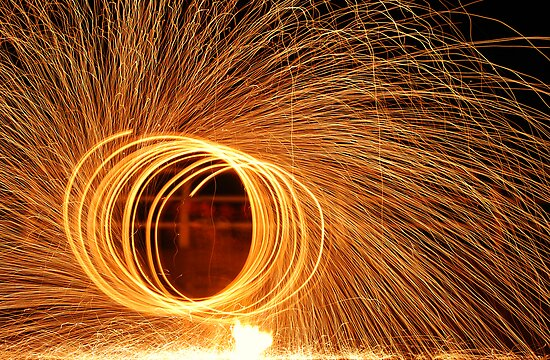 fire poi with a twist 4  by cool3water