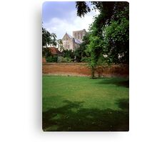 Winchester Cathedral from Outside the Close Wall Canvas Print