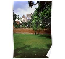 Winchester Cathedral from Outside the Close Wall Poster