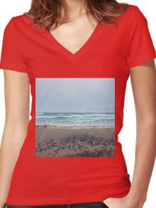 Square coast. Women's Fitted V-Neck T-Shirt