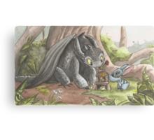 Toothless & Stitch Canvas Print